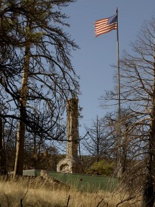 MtLaguna_Chimney remains and flag