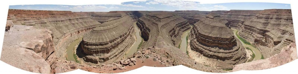 Composite panorama of the Goosenecks of the San Juan River